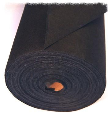 Bawełniana fizelina w kolorze czarnym