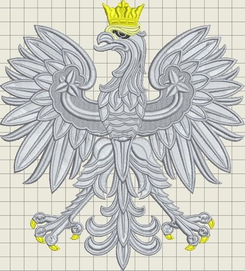Wzór Hafciarski - Godło Polski 36 cm